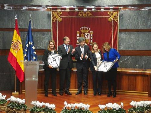 Carlos Lesmes, Pío Garcia Escudero y Ana Pastor entregan uno de los premios
