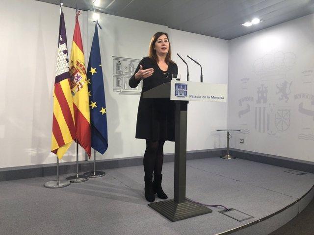 Sánchez se compromete con Armengol a aprobar el REB balear por real decreto y de forma 'inminente'
