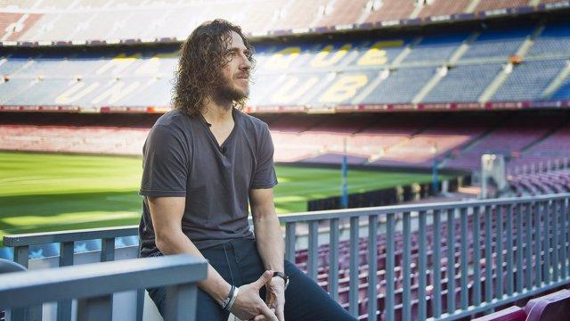 Carles Puyol en el Camp Nou