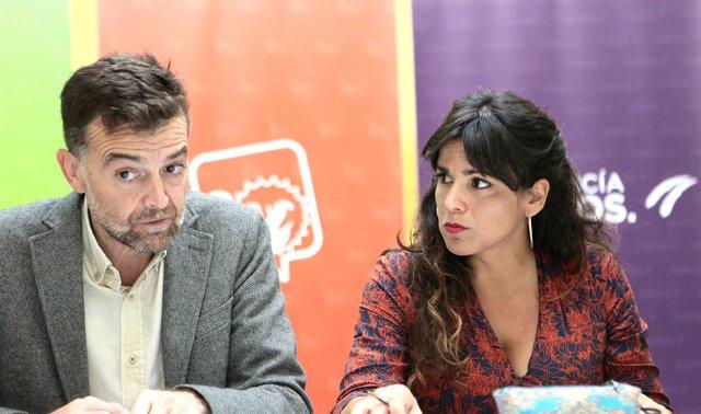 Antonio Maíllo y Teresa Rodríguez, de Adelante Andalucía