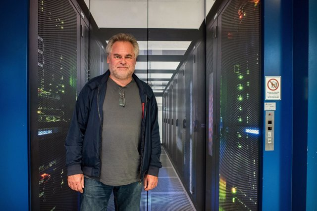 Eugene Kaspersky, CEO de Kaspersky Lab, en centro de datos de Zurich