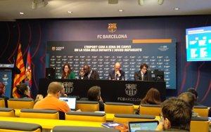 L'esport va reduir la por en el 45% de nens refugiats en un projecte del Barça (EUROPA PRESS)