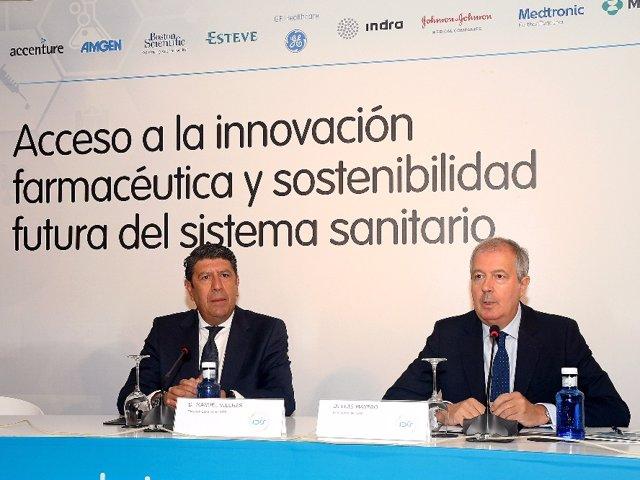 Izq a der. Fernández Valmayor y Luis Mayero, de la Fundación IDIS