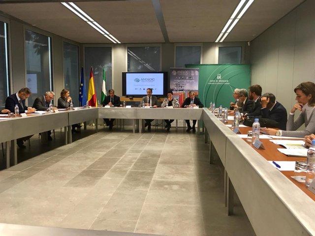 Reunión para organizar el Congreso Internacional de Logística de Andalucía