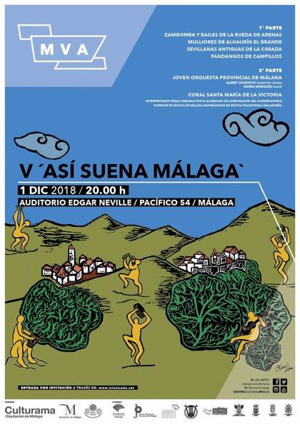 Folclore y música clásica de la provincia se reúnen el 1 de diciembre en la V edición de 'Así suena Málaga'