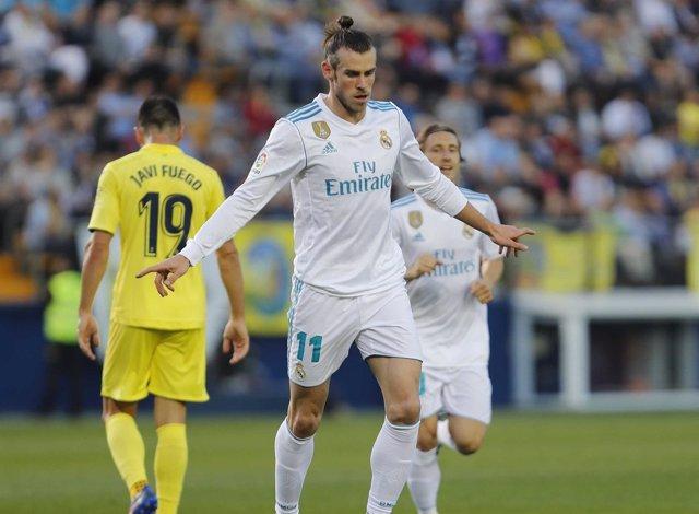 Gareth Bale celebra su gol ante el Villarreal.