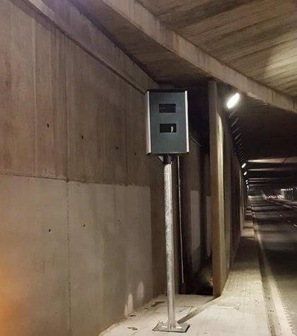 Instalan cuatro radares fijos para prevenir accidentes en túneles de València