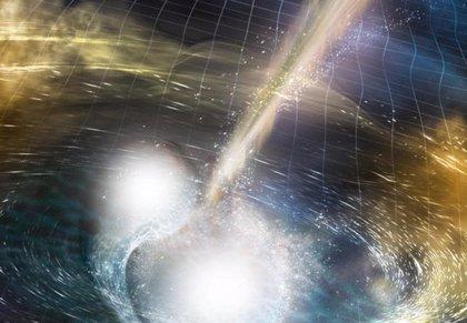 Primeras ondas gravitacionales de una superestrella de neutrones fusionada