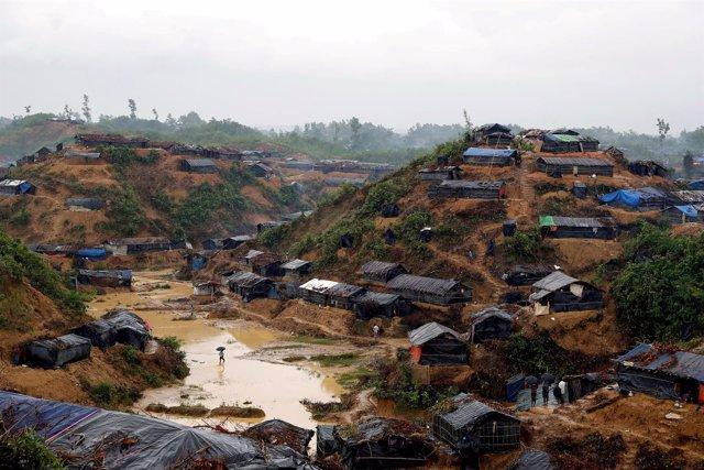 Campamento de refugiados rohingyas en Cox Bazar (Bangladesh)