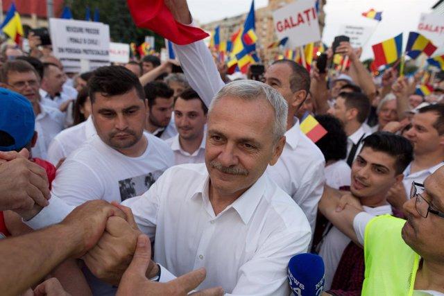 El líder del Partido Social Demócrata de Rumanía, Liviu Dragnea