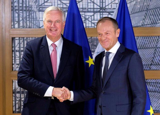 Michel Barnier y Donald Tusk, en una imagen de archivo