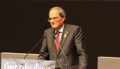 """Torra diu que no es penedeix de """"fer fora Rajoy"""", encara que censura que amb Sánchez no s'ha avançat (Nagore Iraola- Europa Press)"""
