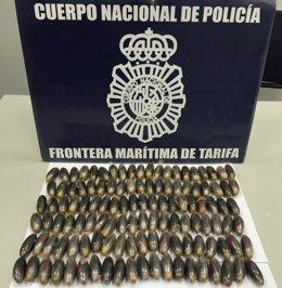 Nota De Prensa E Imágenes: Detenido En Tarifa Con 148 Bellotas De Hachís En El I