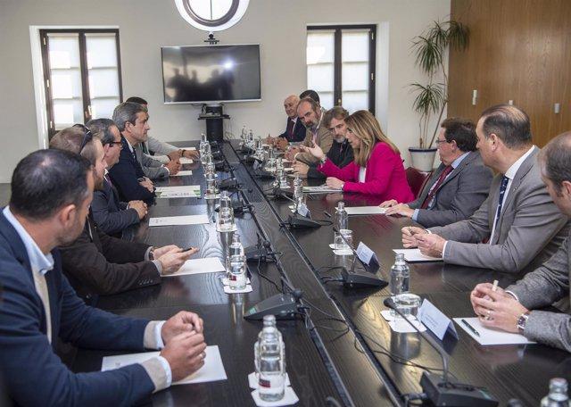 Susana Díaz recibe a la Federación Andaluza de Caza