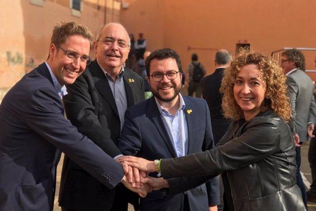 El vicepresident P.Aragonès i els consellers J.Bargalló i I.Capella