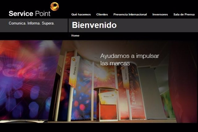 Página web de Service Point