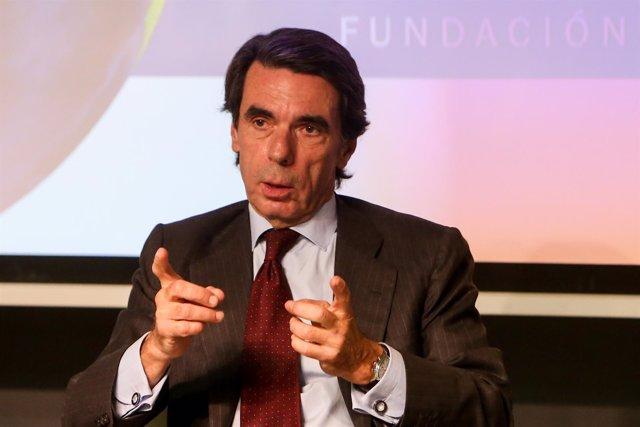 José María Aznar y el expresidente de Colombia Andrés Pastrana presentan la actu
