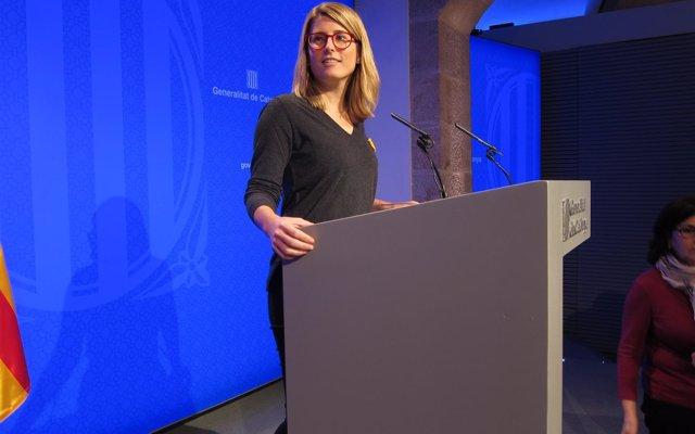 Elsa Artadi reprocha a Junqueras que no haya contestado cuatro cartas de Puigdemont