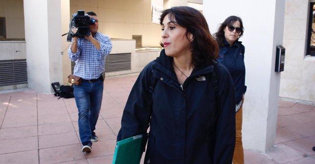 Juana Rivas llega al juzgado para recoger su sentencia condenatoria