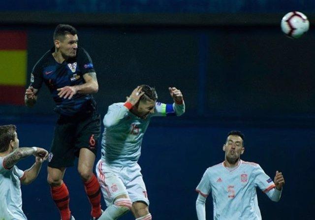 Dejan Lovren Sergio Ramos España selección española Crocia