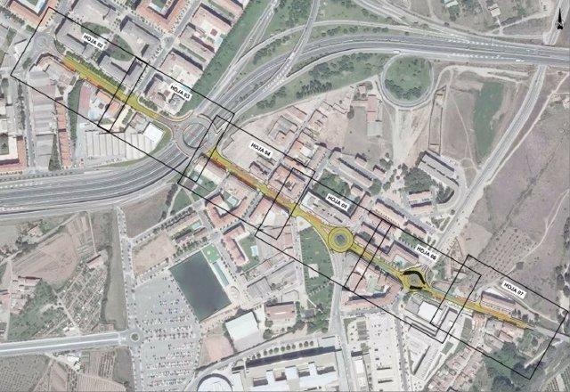 Tramo de mejora en el barrio de la Estrella en Logroño