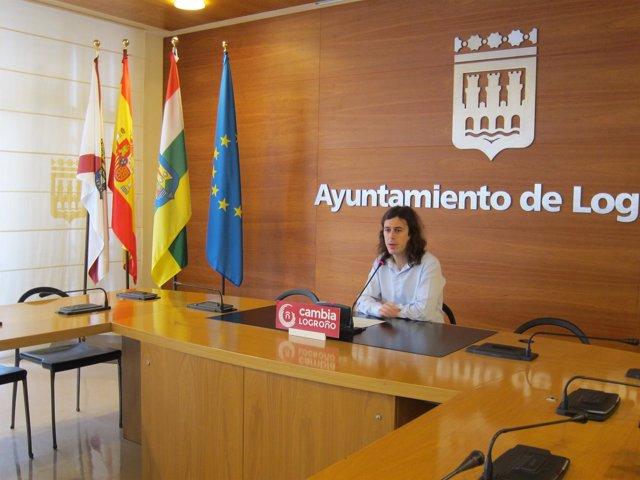 Gonzalo Peña, Portavoz Cambia Logroño