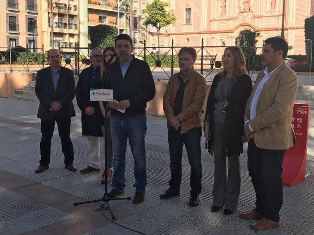 Mario Jiménez presenta el programa electoral del PSOE ante el 2D.