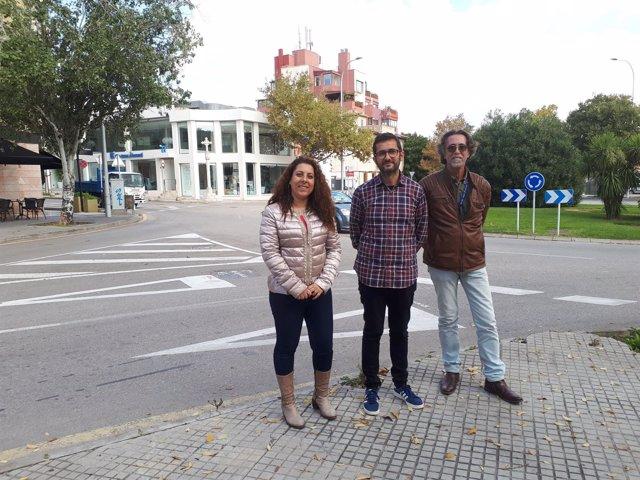 Regidor de Movilidad, Joan Ferrer; y regidora de Distrito Poniente, A. Pastor