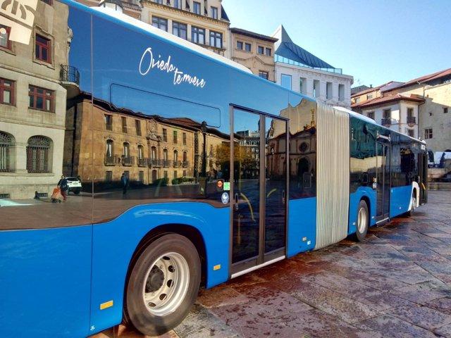 Autobús de TUA con el nuevo sistema de control de alcoholemia.