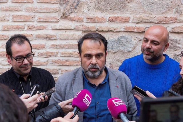 Crespo, Mateo y Molina atienden a los medios