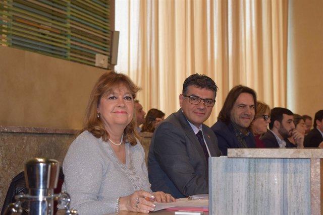 Mabel Hernández y Miguel Cazorla, concejales de Cs en Almería