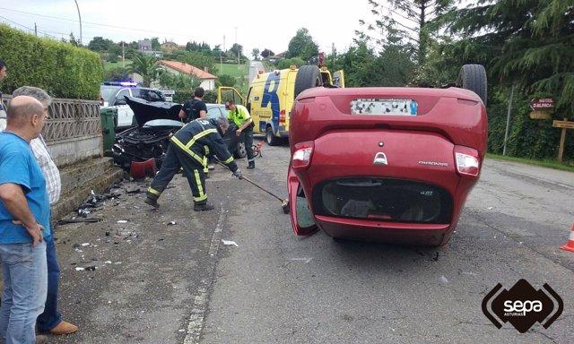 Imagen de archivo de un accidente de tráfico en Asturias