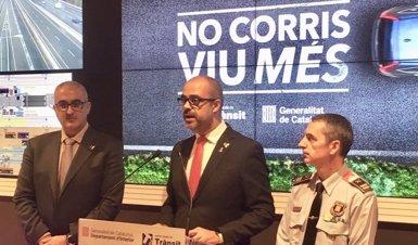 Trànsit presenta la campanya 'No corris. Viu més' contra l'excés de velocitat a la carretera (EUROPA PRESS)