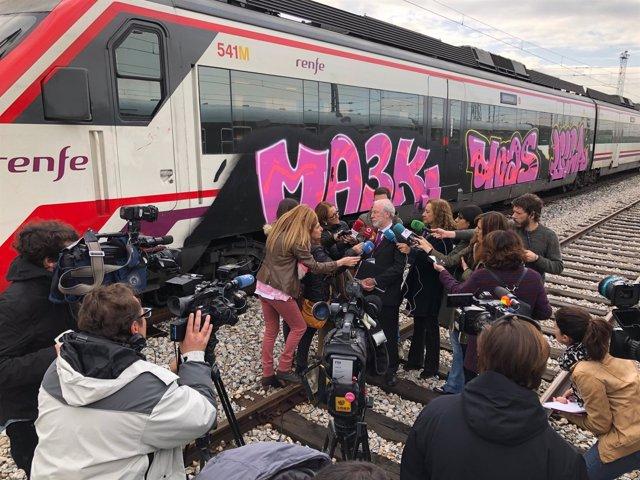 Renfe grafitis trenes