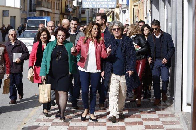 Susana Díaz, hoy en Albolote (Granada)