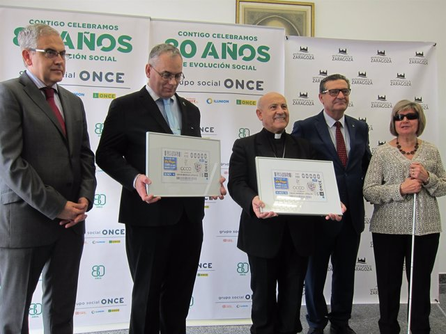 Cupón de la ONCE dedicado a  Ciegos Españoles Católicos