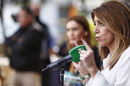 "Susana Díaz avisa a líderes de PP, Podemos y Cs de que el 2D es sobre Andalucía: ""Allá ellos con sus intereses"""
