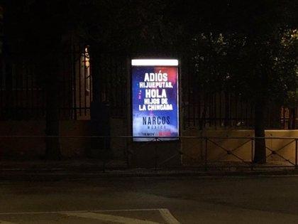 Netflix retira de 'Sanse' una publicidad con la palabra 'Hijueputas' instalada junto a colegios