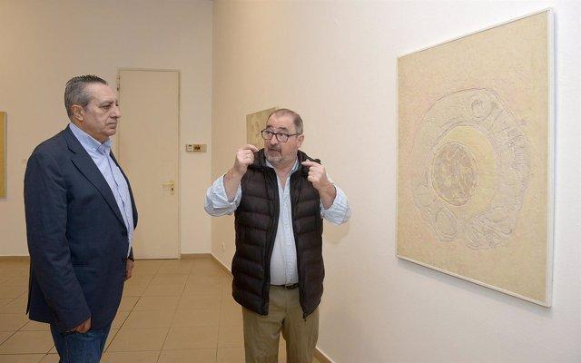 Inauguración de la exposición en homenaje a Andrés Viloria.