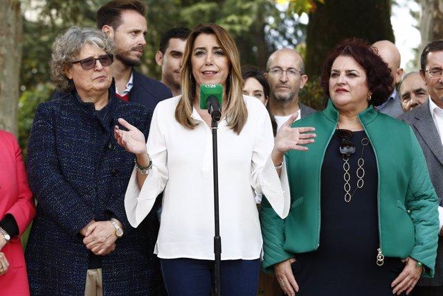 Susana Díaz, este viernes en un acto en Albolote