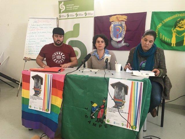 Ángel Amaro, Paula Gioia e Isabel Vilaba