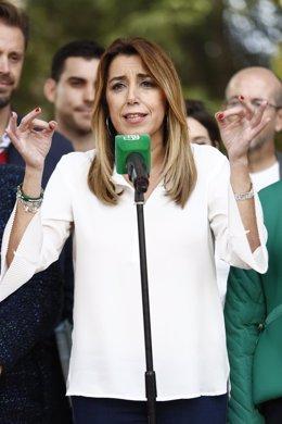 En Albolote (Granada), la secretaria general del PSOE-A, presidenta de la Junta