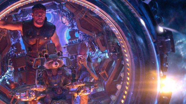 Thor y Rocket en Vengadores: Infinty War