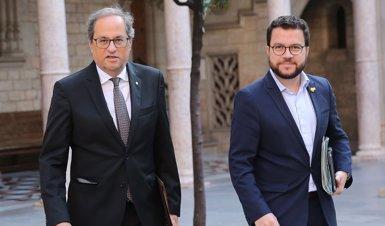 La reunió entre Torra i els grups comença al Palau de la Generalitat amb absència de Cs, la CUP i el PP (GENCAT)