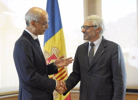 Pascal Saint-Amans al costat de Toni Martí en imatge d'arxiu