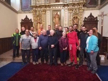 Un grupo de reclusos de la cárcel de Palma de Mallorca realiza el Camino de Santiago