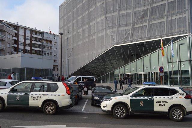 Dispositivo ante la declaración en Ourense de 17 investigados por narcotráfico