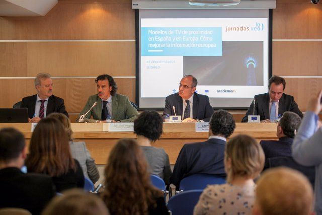 Manuel Campo Vidal, Antonio Virgili, Jaume Duch y Lucas González