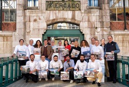 Doce cocineros de Santander protagonizan el calendario de la ciudad para 2019