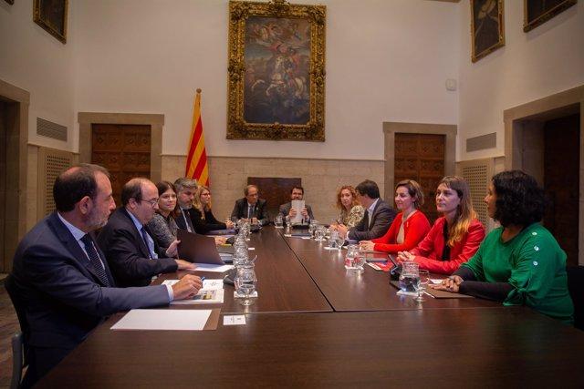 """Reunión """"Espacio de diálogo"""" con el presidente Quim Torra en Barcelona"""